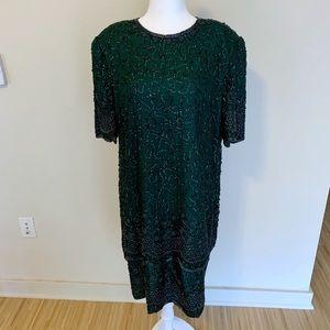 Vintage Brilliante Sequin Silk Dress